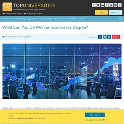 Careers with an Economics Degree