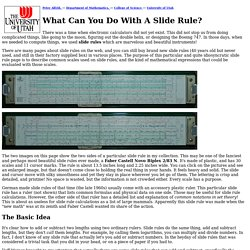 What Can You Do With A Slide Rule?