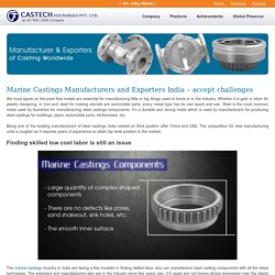 Durable and Strong marine castings products