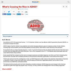 What Causes the Rise of ADHD in Children?