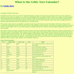 What is the Celtic Tree Calendar?