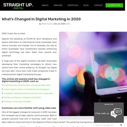 What's Changed in Digital Marketing in 2020
