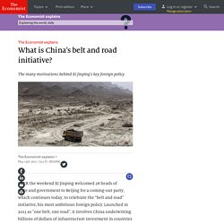 What is China's belt and road initiative?