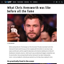 What Chris Hemsworth was like before all the fame