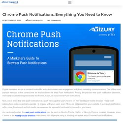 What are Chrome Push Notifications: All that you need to know