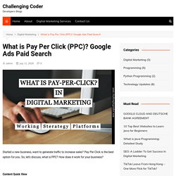 What is Pay Per Click (PPC)? Google Ads Paid Search