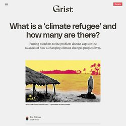 What is a 'climate refugee' and how many are there?