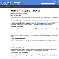 What is Cloud Computing and its Uses