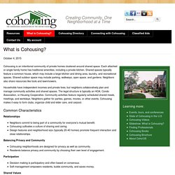What Is Cohousing?