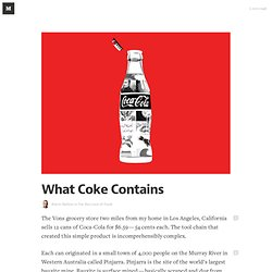 What Coke Contains — Food for Thought