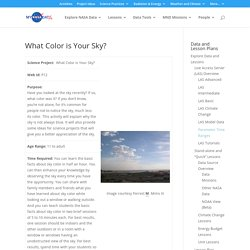 What Color is Your Sky? - MY NASA DATA