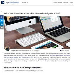 What are the common mistakes that web designers make?