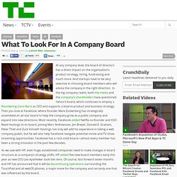 What To Look For In A Company Board