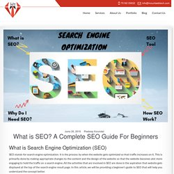What is SEO? A Complete SEO Guide For Beginners