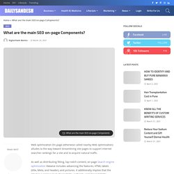 What are the main SEO on-page Components?