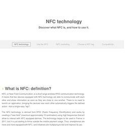La technologie NFC - Définition et utilisation