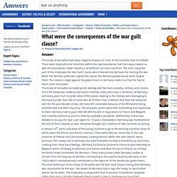 What were the consequences of the war guilt clause