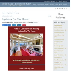 What To Take Into Consideration When Making Updates For A Home