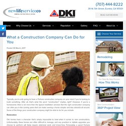 What a Construction Company Can Do for You