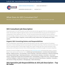 SEO Consultant Job Description