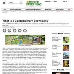 What is a Contemporary Ecovillage?