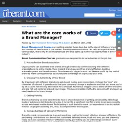 What are the core works of a Brand Manager?