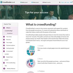 What is crowdfunding and how does crowdfunding work