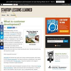 What is customer development?