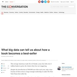 What big data can tell us about how a book becomes a best-seller