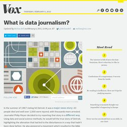 What is data journalism?