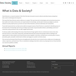 What is Data & Society?