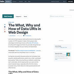 The What, Why and How of Data URIs in Web Design