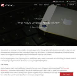 What An iOS Developer Needs to Know - Chetaru