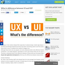 What is difference between UI and UX?