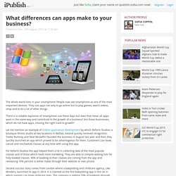 What differences can apps make to your business?