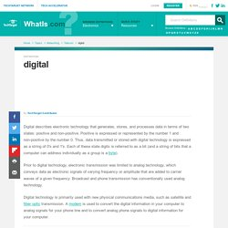 What is digital? - Definition from WhatIs.com