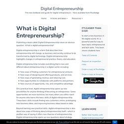 What is Digital Entrepreneurship? – Digital Entrepreneurship