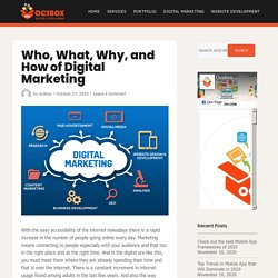 Who, What, Why, and How of Digital Marketing by OCSBOX