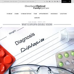 What is Diplopia (Double Vision)