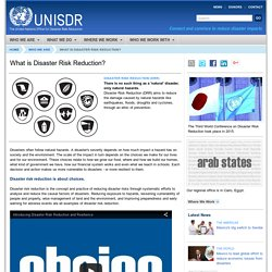 What is Disaster Risk Reduction? - UNISDR