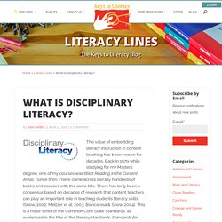 What is Disciplinary Literacy? - Keys to Literacy