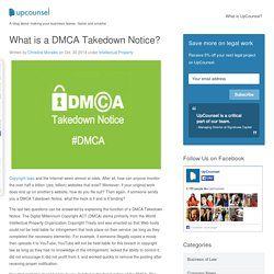 What is a DMCA Takedown Notice?