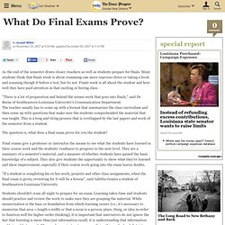 What Do Final Exams Prove?