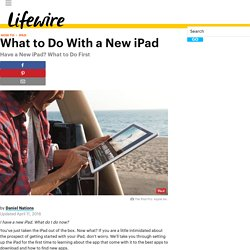 What to Do First With a New iPad