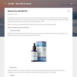 What Do I Do with CBD Oil?