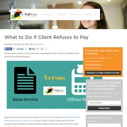 What to Do If My Client Refuses to Pay?