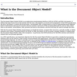 What is the Document Object Model?