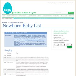 What does a baby really need?