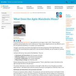 What Does the Agile Manifesto Mean?