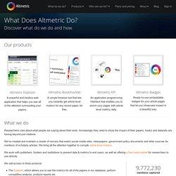 What Does Altmetric Do? - Altmetric